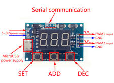 PWM Pulse Square Wave Generator Module Dual Channel Motor 1Hz-150KHz Adjustable