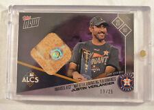 2017 Topps Now Base Relic Card #812C Justin Verlander 13/25 Houston Astros