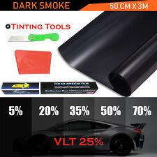 Window Tint Film Tinting Home Car Limo Black Dark Smoke 25% 50CMx3M Pro Kit Roll