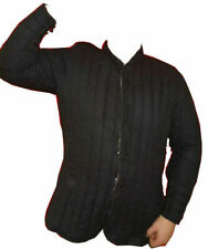 Medieval Gambeson Medieval Padded collar full sleeves Thick black color slim