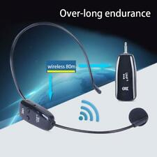 Wireless Microphone  Headset Mic UHF Transmitter + Receiver