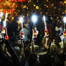 LED STROBE BATON TOPPER GOLD VIP Champagne Bottle Service E-sparkler 5 PACK