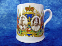 King George VI & Queen Elizabeth VINTAGE CORONATION CUP by Wellington China 1937