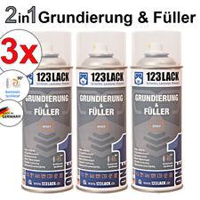 Grundierung & Füller Spray 3x 400ml 2in1 Haftgrund Rostschutz Spraydosen