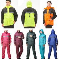 Adults Waterproof Suit Jacket Trousers Packaway Raincoat Set Womens Mens Ladies