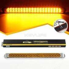 """Amber/Yellow 17"""" 40LED Turn Signal Park Clearance Truck Trailer Light Bar Sealed"""