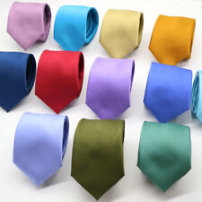 Moda Para hombres Corbata 7CM Solid Color Rojo Negro Corbata Seda Cuello Delgado Para Boda