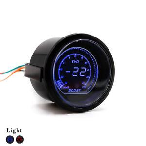 "2"" 52mm EVO Auto Car Digital Turbo Boost Gauge Psi Meter Sensor Pressure Kit"