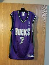 Tony Kukoc Milwaukee Bucks #7 Purple Reebok Jersey Adult M