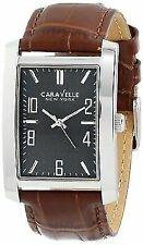 CARAVELLE by Bulova Men's Analog Display Japanese Quartz Brown Watch 43A119