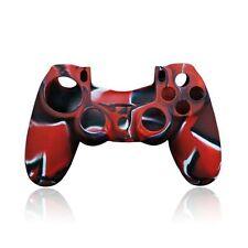 Custodia Cover Silicone per Controller Joypad Sony PlayStation 4 PS4 Rosso Nero