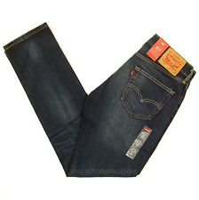 Levis 511 Slim Fit Jeans Mens New Size 32 x 34 DARK BLUE CROSS TOWN Levi's NWT