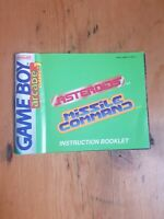 Arcade Classics 1 Asteroids Missile Command Instruction Manual Only Nintendo...