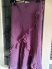 Long Gypsy Style Lilac Lace And Frill Skirt Size 14