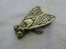 Vintage solid Brass Match holder & striker in the shape of a fly