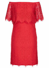 RED Lace over off the shoulder size 22 Dinner celebration party DRESS NEW