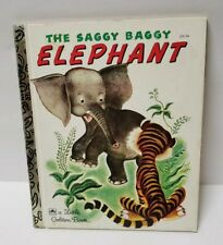 Vintage A Little Golden Book The Saggy Baggy Elephant by K B Jackson Childrens