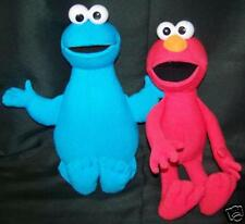 Plush Elmo & Cookie Monster Doll Toys Ex Condition