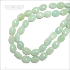 "15.7"" Amazonite Flat Puffy Oval Beads ap. 12mm x 16mm Green #22127"