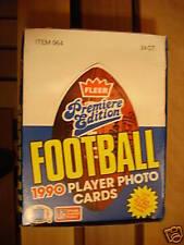 1990 Fleer Football cards - Box of 24 Rack Packs