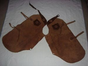 TEXTAN Vintage Size 8 Childrens Leather Cowboy-Cowgirl-Riding Chaps TOPHAND TOGS