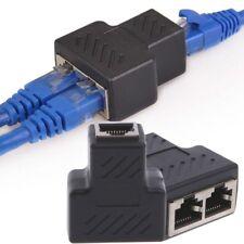 1 à 2 Voies RJ45 LAN Réseau Câble Femelle Splitter Connecteur Adaptateur HG