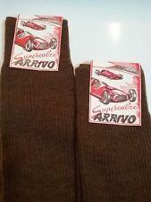 ARRIVO (RACING LABEL) 2 PAIRS MENS ANKLE SOCKS BROWN SIZE 12 VINTAGE
