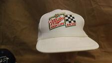 Vtg Miller High Life Racing Mesh Snapback,Hat/Cap Trucker NOS Flat Bill Retro