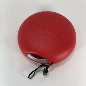 Red Discgear Discus 20s Double Sided CD Case Holds 20 CD's Or DVDs