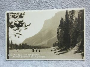 1920's  BANFF SPRINGS GOLF COURSE TEE #7   Photo Postcard RPPC BYRON HARMON