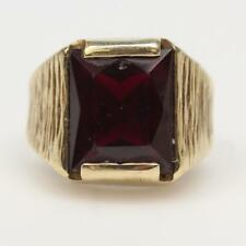 Estate  10kt Gold 6.0g Ring With Red Stone. Or scrap