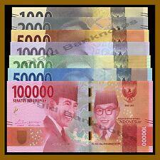 Indonesia 1000 2000 5000 10000 20000 50000 100000 Rupiah (7 Pcs Set), 2016 Unc