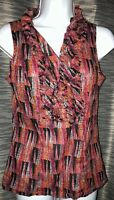 Gap Pink Orange Black Tank Top Sleeveless Blouse Women's XS Extra-Small .  Z18