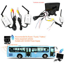 Car 2.4G Wireless AV Cable Transmitter&Receiver For Car Monitor Rear View Camera