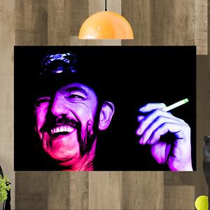 Motorhead Lemmy Kilmister Framed Canvas Art Print Ready To Hang