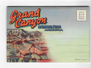 VINTAGE-POSTCARD FOLDER-GRAND CANYON NATIONAL PARK-ARIZONA