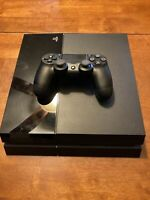 Sony PlayStation 4 PS4 Gaming Console Jet Black w/ One Dualshock Controller