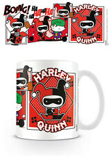 MUG CUP HARLEY QUINN COMIC CHIBBI TEA OR COFFEE OFFICIAL 11OZ BOXED NEW CERAMIC