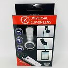 Clip On Lens for Cell Phone Universal Tablet 3-in-1  FishEye, Macro, Wide Angle