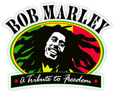 "Bob Marley a Tribute to Freedom sticker decal 5"" x 4"""