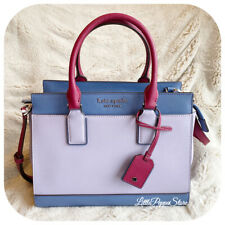 Kate Spade Medium Satchel Cameron Leather Bag in Frozen Lilac Multi