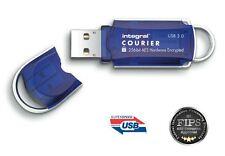 Integral COURIER USB 3.0 Stick AES 256bit Hardware Encryption 8GB 16GB 32GB 64GB