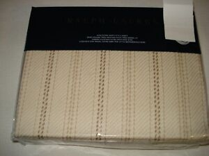 New Ralph Lauren ANNANDALE MEADE King XDeep Fitted sheet TONAL SAND $185
