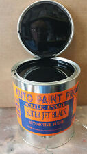Super Jet Black acrylic enamel single stage auto body shop restoration car paint