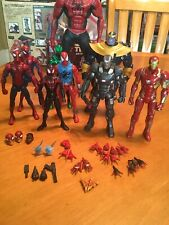 Marvel Legends Pizza Scarlet BigTime Miles Spiderman Thanos Ironman War Machine