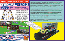 ANEXO DECAL 1/43 FOCUS HIRVONEN/LATVALA/QASSIMI R.AUSTRALIA 2009 1st/4th/19 (09)