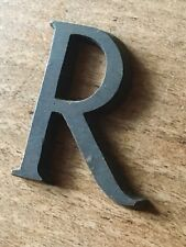 Antique Letter R Font Typeface Solid Bronze Vintage Reclaimed Sign