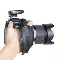 Nikon DSLR Hand Wrist Leather Grip Strap For Camera Canon  Sony Olympus Black