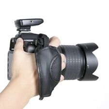 Hand Wrist Leather Grip Strap For Camera Canon Nikon Sony Olympus DSLR Black #WE
