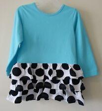 New In Bag Kelly's Kids Blue White Black Dot Danielle Dress Girl's Size 8-10 yr.